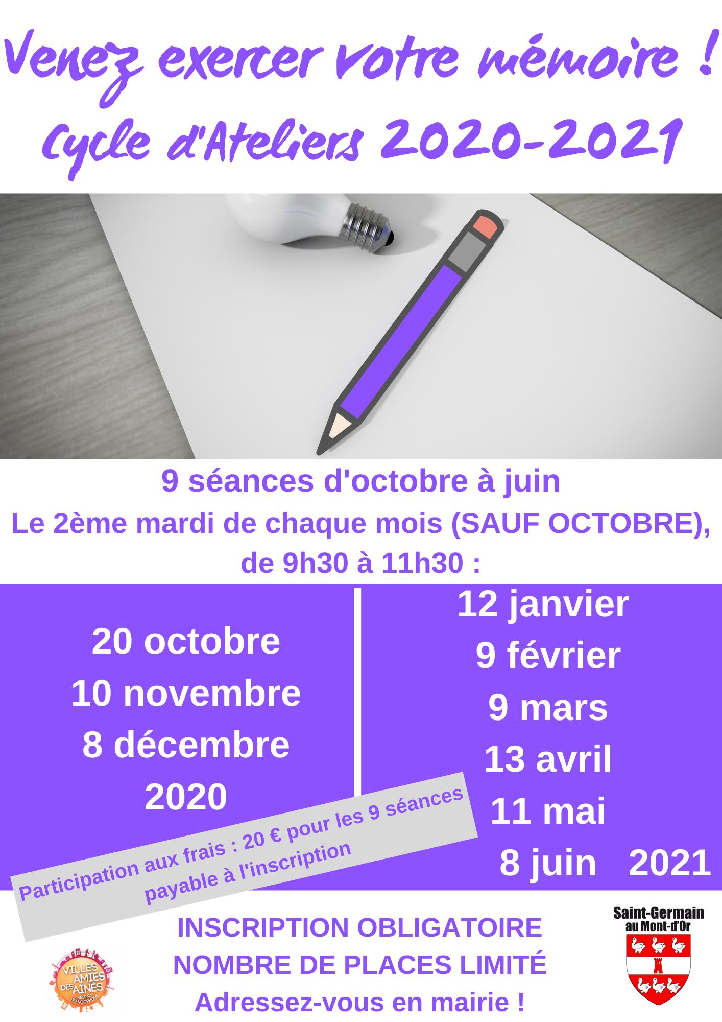 Atelier Mémoire @ Espace Maintenue