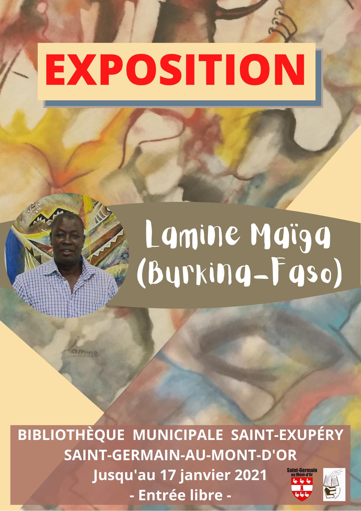 Exposition de Lamine Maïga (Burkina Faso) @ Bibliothèque