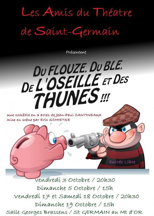 Théâtre : « du flouze, du blé, de l'oseille et des thunes… » @ Salle Georges Brassens
