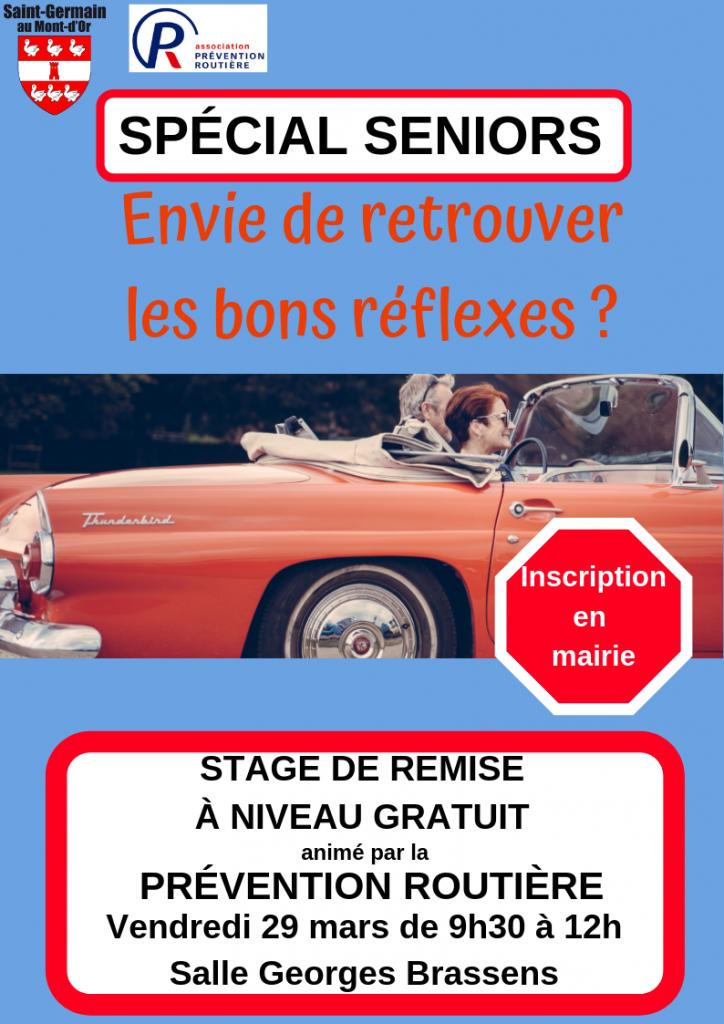 Stage prévention routière pour les seniors @ Salle Georges Brassens