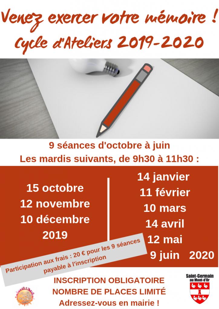 Cycle d'Ateliers Mémoire 2019-2020