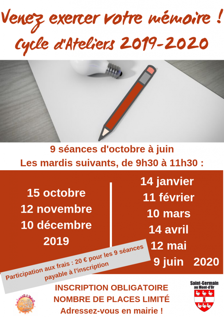 Cycle d'Ateliers Mémoire 2019-2020