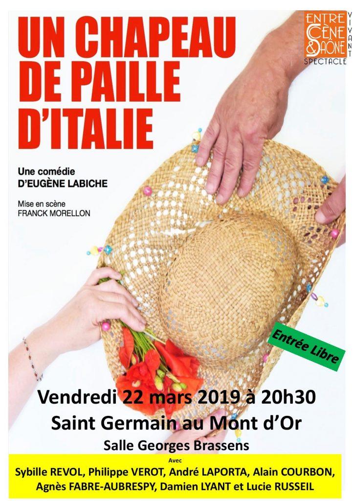 Théâtre : Un chapeau de paille d'Italie @ Salle Georges Brassens