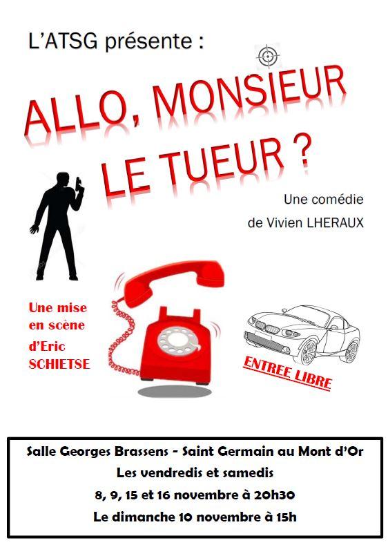 Théâtre : Allo, Monsieur le tueur ? @ Salle Georges Brassens