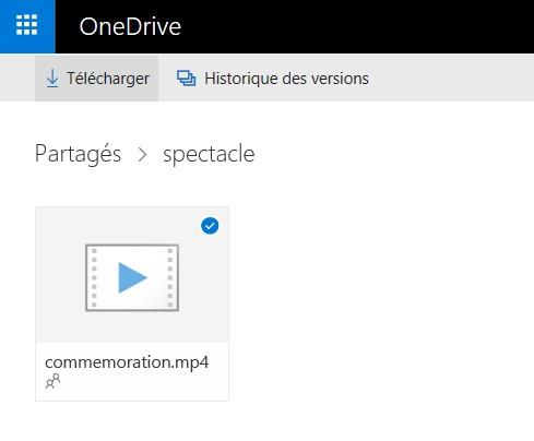 téléchargement OneDrive