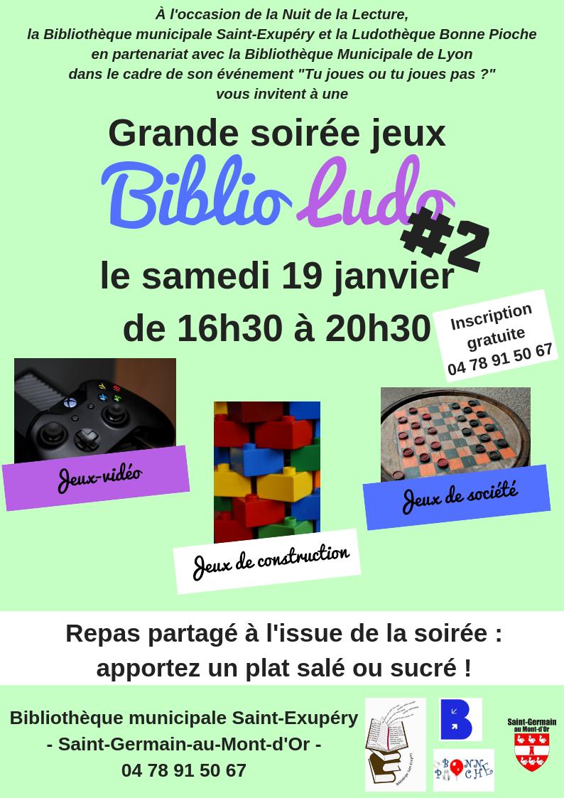 Soirée Biblio Ludo #2 @ Bibliothèque