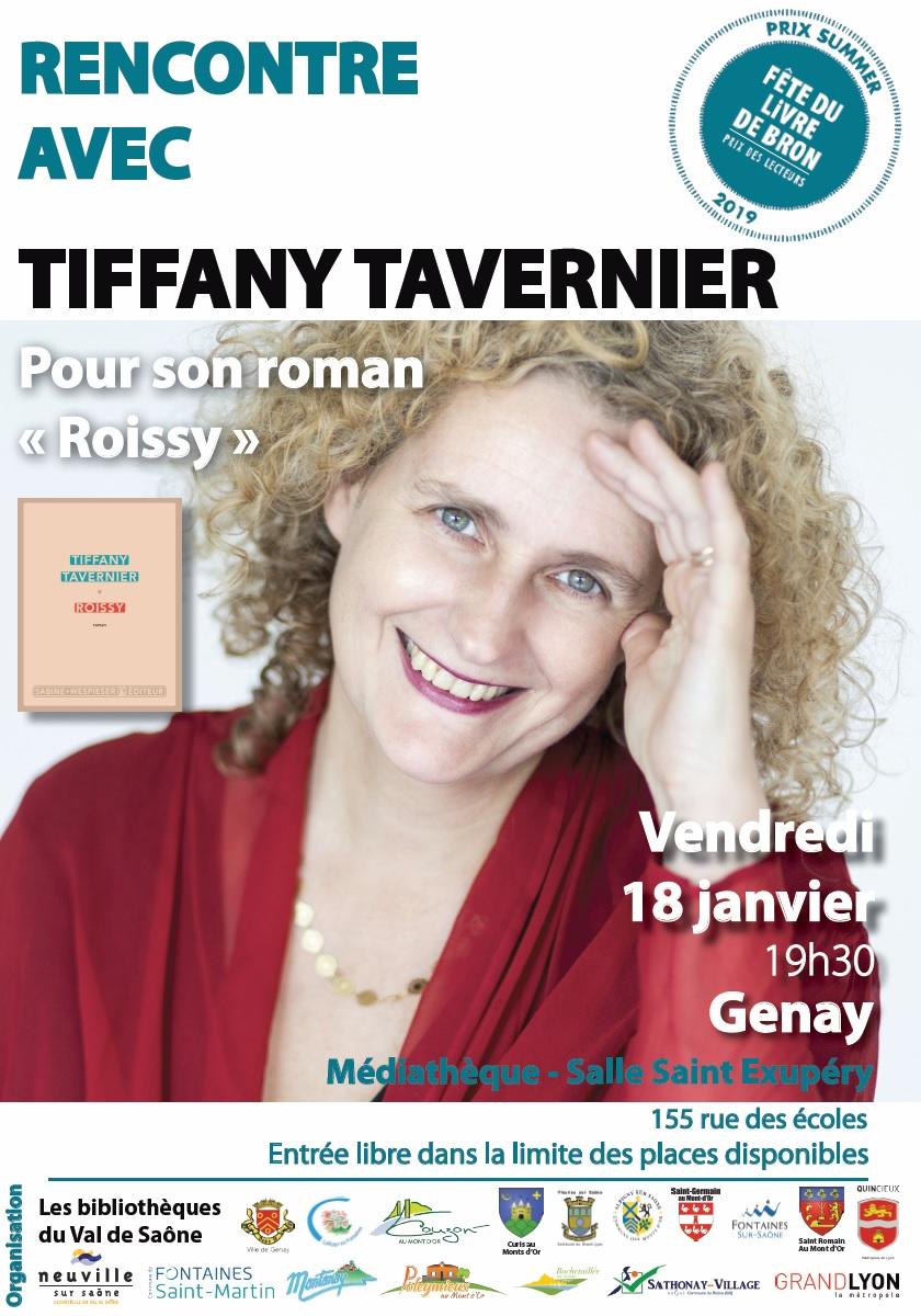 Rencontre avec l'auteure Tiffany Tavernier @ Médiathèque de Genay