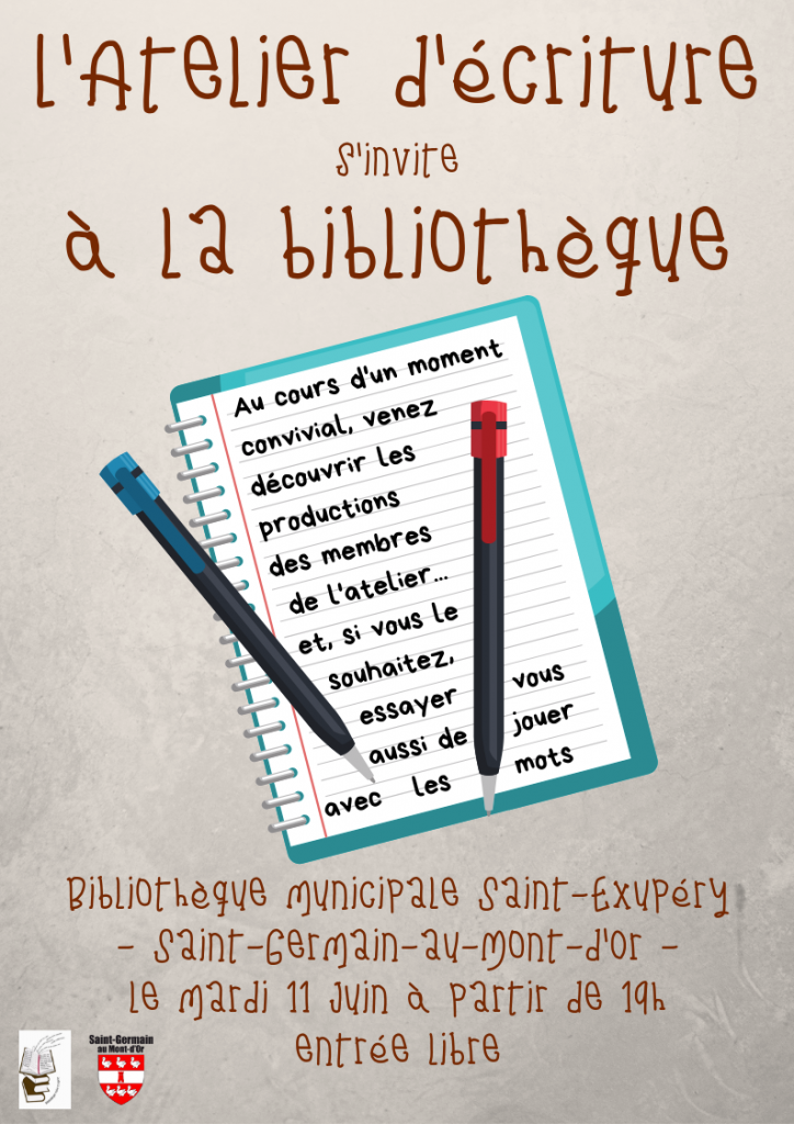 Atelier d'écriture @ Bibliothèque