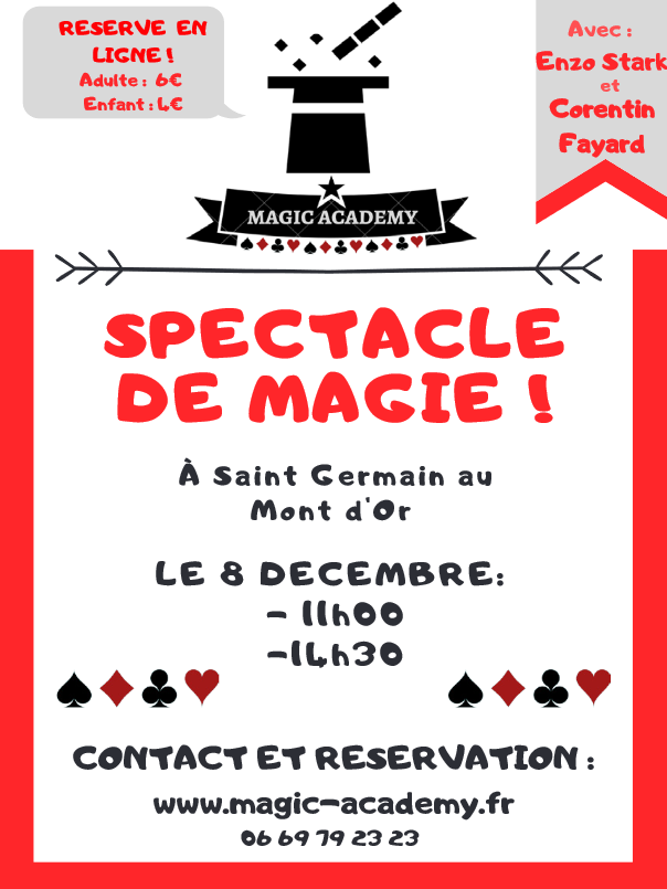 Spectacle de Magic Academy @ Salle Georges Brassens