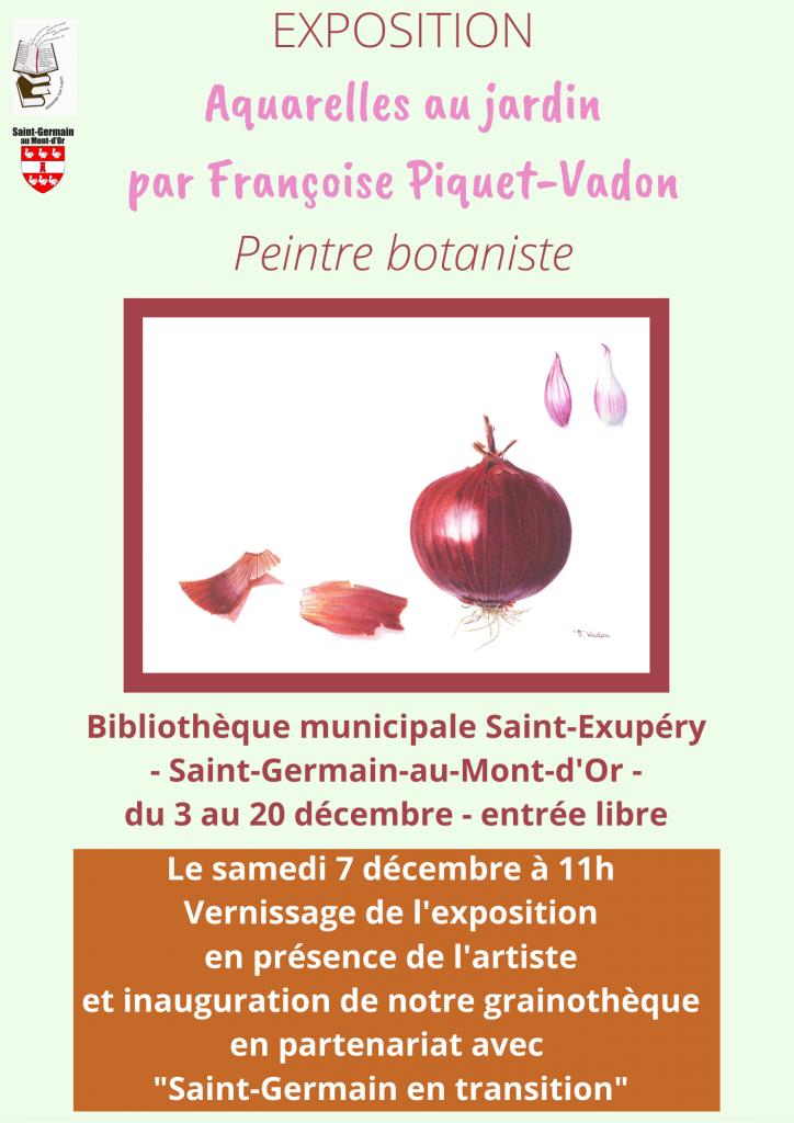 Exposition de Françoise Piquet-Vadon @ Bibliothèque